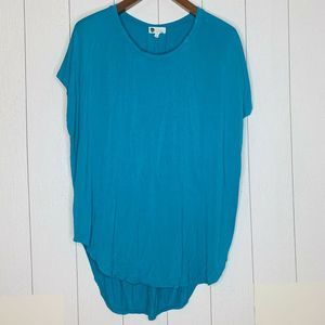Floreat Anthropologie Womens Size M Blue Tunic Top